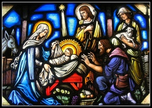 Nativity.stained glass